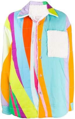 Natasha Zinko Printed Teddy-Lined Jacket