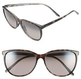 Maui Jim Women's 'Ocean' 57Mm Polarized Sunglasses - Grey Tortoise Stripe/ Grey
