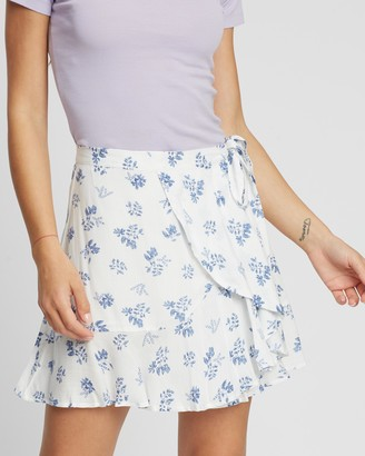 MinkPink Moonstone Mini Wrap Skirt