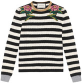 Gucci Embroidered merino cashmere knit top - women - Polyester/Viscose/Cashmere/Wool - S