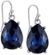 2028 Silver-Tone Blue Teardrop Earrings, a Macy's Exclusive Style