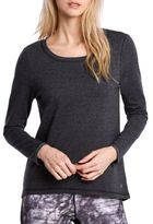 Danskin Scoopneck Long-Sleeve Heathered Tee