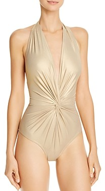Karla Colletto Carmelle Twist-Front One Piece Swimsuit