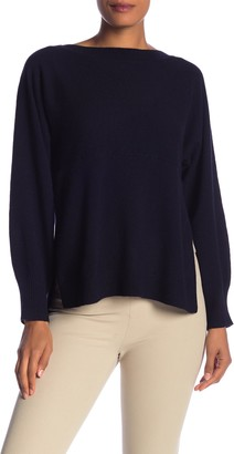 Vince Side Slit Wool & Cashmere Blend Pullover
