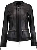 Roberto Cavalli Metallic Perforated Leather Jacket