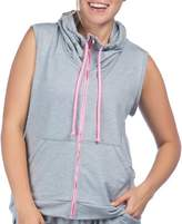Pl Movement By Pink Lotus Women's PL Movement by Pink Lotus Cozy Hooded Full-Zip Vest