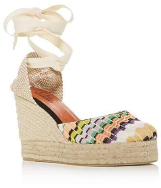 Castaner x Missoni Women's Carina Ankle-Tie Platform Wedge Espadrille Sandals