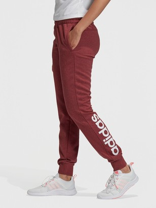 adidas Essentials Linear Pant - Red/White