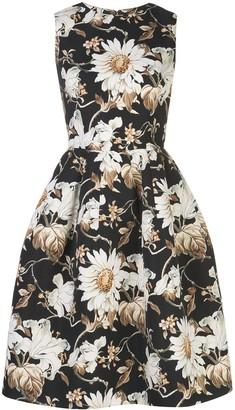Oscar de la Renta floral-print A-line tulip dress