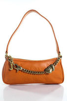 Juicy Couture Bright Orange Leather Chain Strap Baguette Handbag