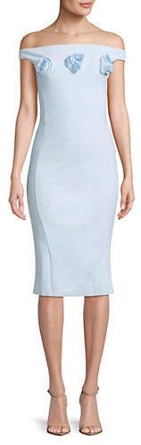 Chiara Boni Rose Off-The-Shoulder Dress