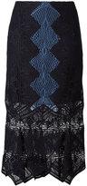 Jonathan Simkhai panel applique lace trumpet skirt - women - Silk/Nylon/Polyester/Spandex/Elastane - 4