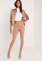 Missguided High Waisted Skinny Jeans Camel