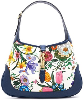 Gucci Jackie Medium Floral Print Shoulder Bag
