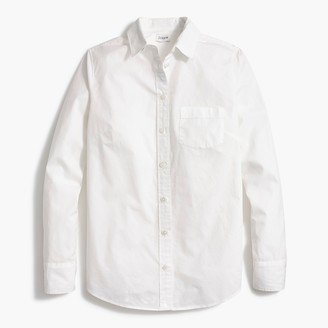 J.Crew Petite button-up cotton poplin shirt in signature fit