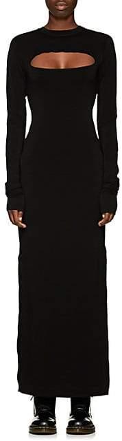 Marc Jacobs Women's Reverse-Seam Stretch-Crepe Maxi Dress - Black