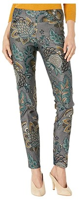 Lisette L Montreal Mateus Print Slim Pants (Blue Steel) Women's Casual Pants