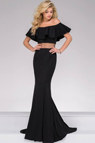 Jovani Off the Shoulder Illusion Waist Prom Dress 49926