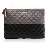 M Z Wallace Metro Pouch Black and Magnet Colorblock Leather