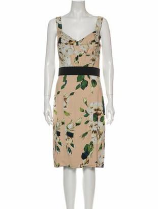 Dolce & Gabbana Floral Print Mini Dress w/ Tags
