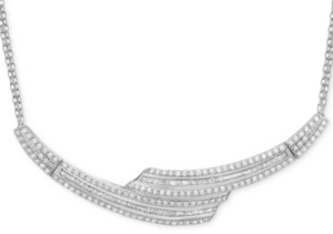 Wrapped in Love Diamond Collar Necklace (2 ct. t.w.) in Sterling Silver, Created for Macy's