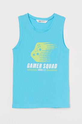 H&M Printed Tank Top - Turquoise