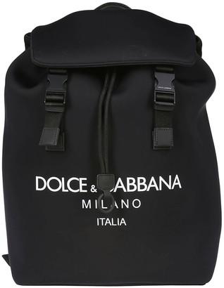 Dolce & Gabbana Logo Foldover Backpack