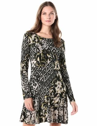 Karen Kane Women's Printed Dakota Dress Medium