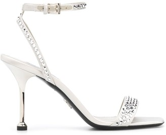 Prada Crystal Embellished Sandals