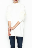 LOLA Cosmetics Fur Sleeve Sweater