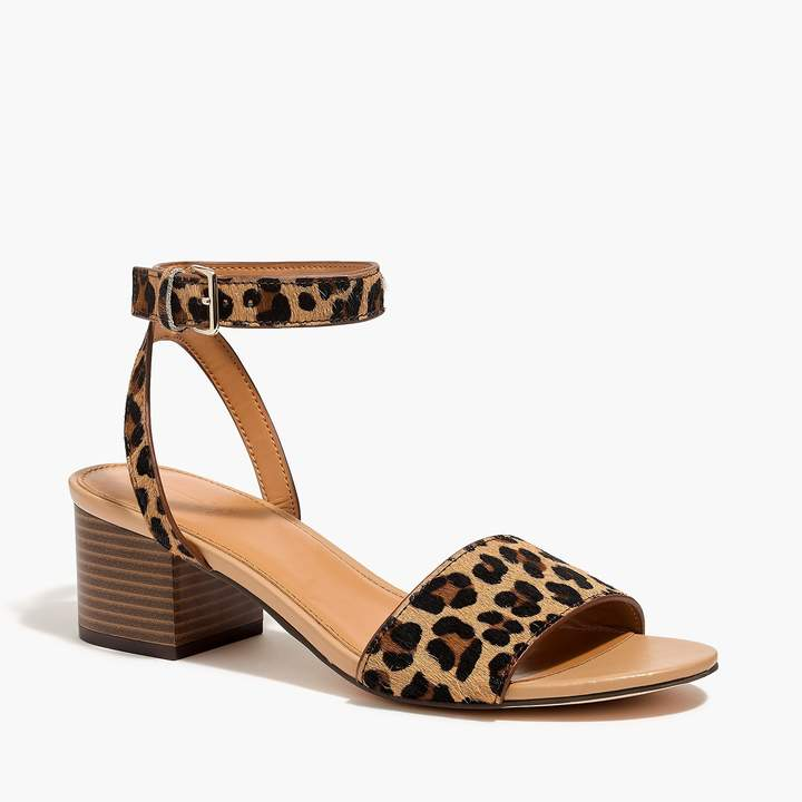 J.Crew Calf hair block-heel sandals