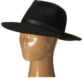 BCBGMAXAZRIA PU Banded Panama Hat