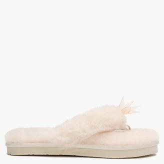 UGG Women's Fluff II Seashell Pink Flip Flop Slippers