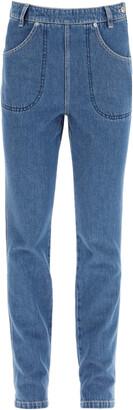 Kenzo HIGH-RISE JEANS 34 Blue Cotton, Denim