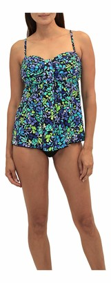 Fit 4 U Women's Sea Glass Square Neck V Hem Swim top