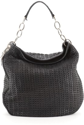 Christian Dior Soft Lady Hobo Woven Leather Large