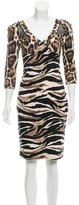 Just Cavalli Long Sleeve Bodycon Dress