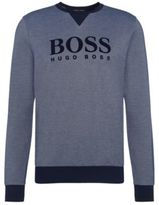 HUGO BOSS Cotton Flock Logo Sweatshirt Sweatshirt S Open Blue