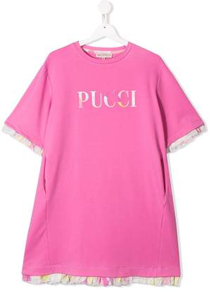 Emilio Pucci Junior logo T-shirt dress