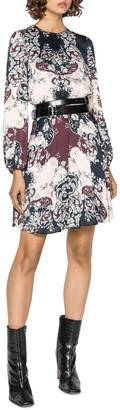 Cue Baroque Blouson Sleeve Dress
