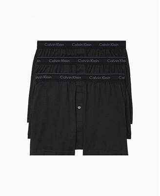 Calvin Klein Underwear Cotton Classics Multipack Pack Knit Boxer (Black) Men's Underwear