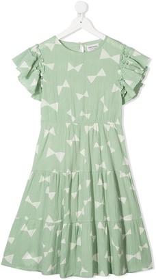 Bobo Choses Bow-Print Flared Dress