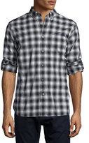 John Varvatos Check Roll-Tab Woven Shirt, Charcoal