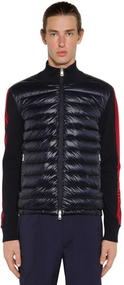 Moncler Quilted Tricot Cotton Down Sweater