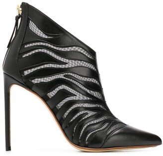 Francesco Russo Sheer Zebra Booties