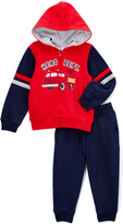 Kids Headquarters Red Fire Truck Jacket & Navy Pants - Infant Toddler & Boys