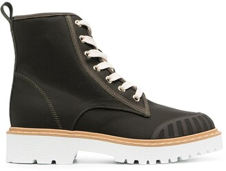 Hogan Combat lace-up boots