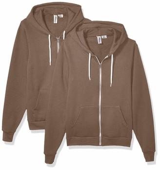 Marky G Apparel Men's USA Collection Flex Fleece Zip Hoodie (2 Pack)