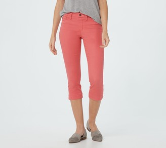 Laurie Felt Petite Colored Silky Denim Capri Pull-On Jeans