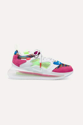 Nike Air Max 720 Obj Mesh, Suede And Leather Sneakers - Pink